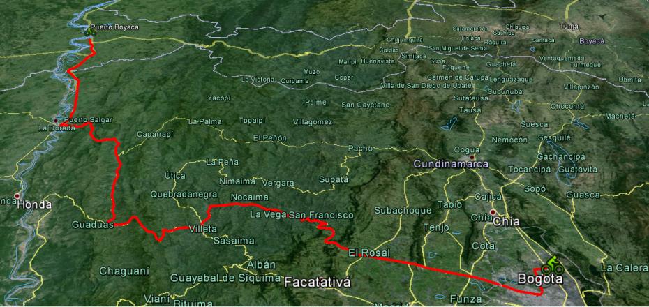 ruta bogota- puerto boyaca bici